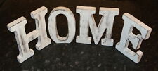 HOME  LARGE SHABBY CHIC VINTAGE WHITEWASH WOODEN LETTERS SIGN FREESTANDING 15CM