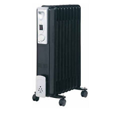 Llenos de aceite radiador calentador de 9 aletas de perfil delgado de 2kw con 3 ajustes de calor