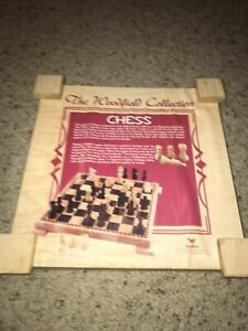 CARDINAL WOODFIELD COLLECTION CHESS WOODEN BOARD GAME & PIECES Complete