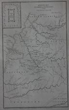 Original antique map, USA, AMERICA, KENTUCKY, Shaffner, Woolley, 1863