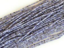 Natural Gemstone Tiny Iolite Beads Natural Blue Color Faceted Round 2mm #2058