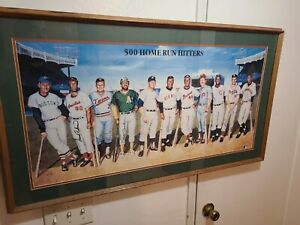 500 Home Run Club Autographed and Inscriptions, Lithograph