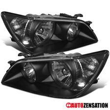 For 2001-2005 Lexus IS300 Black Headlights Driving Head Lamps Pair