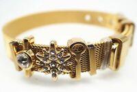 Bracelet en forme d'étoile avec diamant or jaune 18 carats et mailles 8 '20cm
