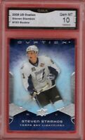 GMA 10 Gem Mint STEVEN STAMKOS 2008/09 UD Upper Deck OVATION ROOKIE Card TAMPA!