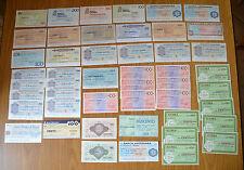 LOTTO 48 BANCONOTE miniassegni banca BANCO LARIANO CREDITO ITALIANO  ANNI '70