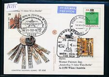 86395) LH / AUA SF Berlin - Wien Österreich 21.3.2002, GA ab Moldavien R!