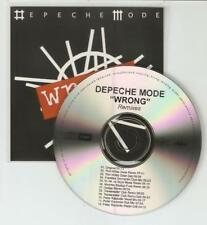 DEPECHE MODE 'WRONG' THE REMIXES  -  12 REMIX RARE BRAZILIAN CD PROMO