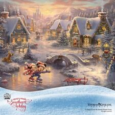 DISNEY KINKADE SWEETHEART HOLIDAY MINNIE & MICKEY MOUSE 1000PC CHRISTMAS PUZZLE