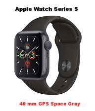 Apple Watch Series 5 40mm Space Gray Aluminum GPS Only MWV82LL/A New