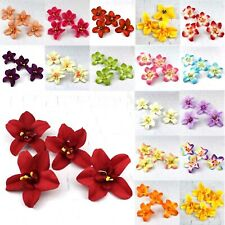 "10/100Pcs 3""Artificial Orchid Silk Rose Heads Bridal Wedding Fake Bouquet Decor"
