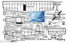 Model Airplane Full Size Printed Plan Peanut Scale Corby Starlet& Article