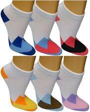 12 24 Damen Sneaker Socken Freizeitsocken Füßlinge Sportsocken bunt Muster 9