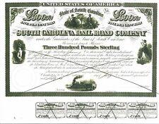 SOUTH CAROLINA RAIL ROAD COMPANY CERTIFICATE.....1866 LOAN CERTIFICATE