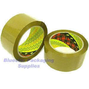 72 Rolls of 3M Scotch Buff Packing Tape 48mm x 66m