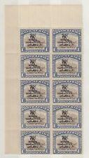 More details for kenya uganda and tanganyika kgvi 1941 70c on 1/- block of 20 (folded)  j5016