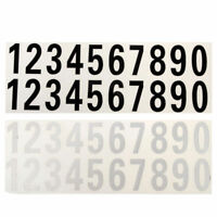 Reflective Number Sticker For Street Address Mailbox/Car Vinyl Decal White/Black