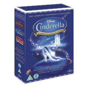 Cinderella 1,2 and 3 Box Set [Blu-ray] [1950] [Region Free] [DVD][Region 2]