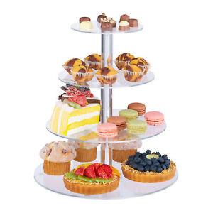 Etagere Cupcake Ständer Servierplatte Muffin Aufsteller Kuchenständer 4 Etagen