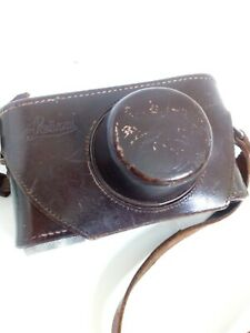 VINTAGE LEICA RANGE FINDER LEATHER CAMERA CASE