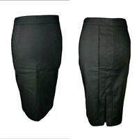 Zara Women's Black Straight Pencil Skirt Formal Work Office Career Blogger S 10