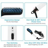 Electric Beard/Hair Straightener Brush Comb Tools Hair Curling Iron Flat Ne A1T3