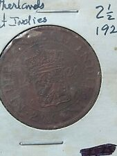 1920 Netherlands East Indies 2-1/2C Antique Coin World Coins Free US Shipping