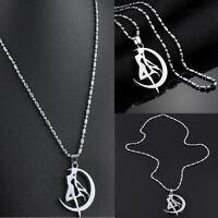 Cosplay Anime Sailor Moon Tsukino Usagi Moon Stick Pendant Necklace Gift New
