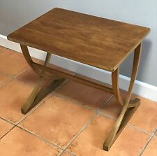 Vintage Nathan Furniture Curved Coffee Table Side Table