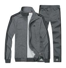 Men's TrackSuit Sport Suit Sets Jacket Pant trousers GRAY SZ:M DG777
