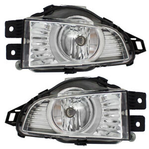 Pair Set Fog Lights Lamps Lens w/ Housing Assembly SAE for 2011-2013 Buick Regal
