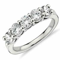 Le Bella 1.25CT Sterling Silver 5 Stone Anniversary Band Wedding Ring