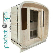 NEU Outdoor Sauna Oslo-P perfect-spa Aussensauna Sauna Gartensauna