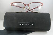 Dolce & Gabbana DG 1268 1255 Burgundy/Gold New Eyeglasses 54mm w/Case