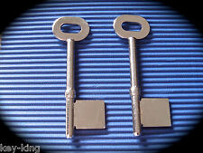 Rst Key Blank Pair-2 Keys. Mortise, Mortise 6 Gauge 58mm length