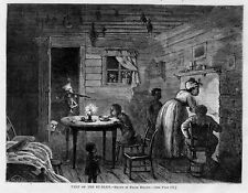NEGRO FAMILY GETS VISIT FROM THE KU KLUX BY FRANK BELLEW BLACK HISTORY FIREPLACE