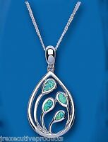 Opal Pendant Green Opal Necklace Solid Sterling Silver Pendant and Chain