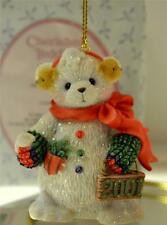 Cherished Teddies ORNAMENT Snowbear dated 2001 NIB *FREE usa SHIPPING