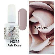 SYSTER 15ml Nail Art Soak Off Color UV Lamp Gel Polish N026 - Ash Rose