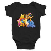 Pooh Tigger Piglet Friends Family Infant Baby Boy Girl Rib Bodysuit Clothes Gift