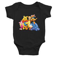 Pooh Tigger Piglet Friends Family Infant Baby Boy Girl Rib Bodysuit Clothes Gift