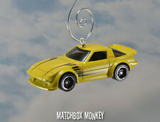 Mazda RX-7 Racing Car Custom Christmas Ornament 1/64 Rare Yellow Chrome RX7