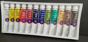 REEVES 12 COUNT OUL PAINTS IN SEALED PACKAGE, 10ml/0.34 fl. oz.l