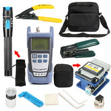 Fiber Optic FTTH Tool Kit with FC-6S Fiber Cleaver Optical Power Adapter Meter
