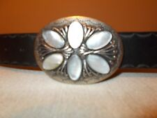 Guess Womens Size S Genuine Leather Belt Jeweled Buckle