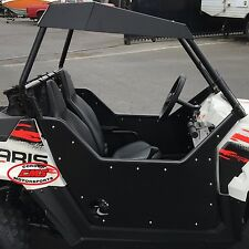 Polaris RZR 170 Fixed UTV Doors Solid Steel Tube Frame Aluminum Door Skin Black