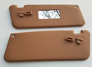 """Mercedes-Benz """"R107 NEW Sun Visor""""  PALOMINO with Clips  set"""