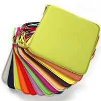 ALS_ 40x40cm Seat Cushions Outdoor Indoor Soft Tie On Chair Pad Home Decor Delux