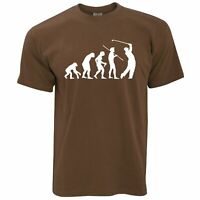 Mens Funny Golf T Shirt Evolution Of A Golfer Novelty Gift Him Dad Tshirt Tee