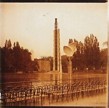 Paris Exposition coloniale 1931 Plaque de verre stéréo Positive Vintage